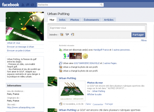 Facebook - Urban Putting - http://urbanputting.com/