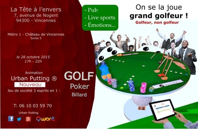 Grand golfeur à la tête à l'envers - Vincennes