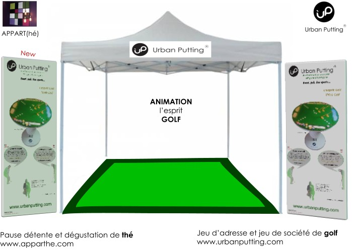 Le stand jeu de golf Urban Putting