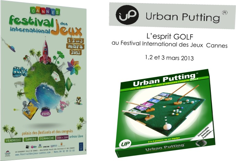 Urban Putting au Festival International des Jeux - Cannes 2013